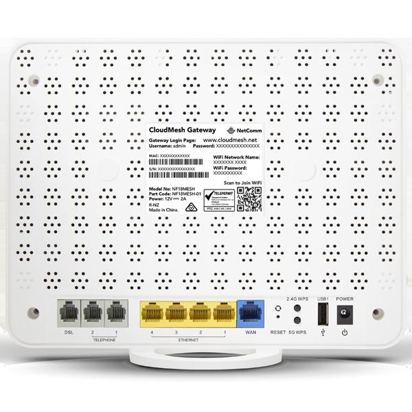 Netcomm NF18MESH Back